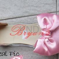 Jual Sepatu Wanita Cewek Flat Mika Bowtie Pink KND Murah