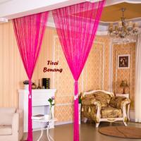 harga Tirai Benang Motif Polos Hotpink (motif Polos Lebih Tebal & Elegan) Tokopedia.com