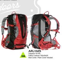 Tas Hiking Trekking Daypack 45l Red Cordura Arji025 Merah Komb