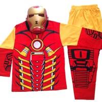 Jual pakaian aksesoris anak Baju Anak Kostum Topeng Superhero Iron Man Murah