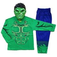 Jual pakaian aksesoris anak Baju Anak Kostum Topeng Superhero Hulk murah Murah