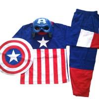 Jual pakaian aksesoris anak Baju Anak Kostum Topeng Superhero Captain Murah