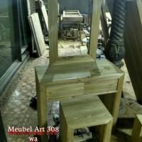 Meja Rias Minimalis Jati (furniture, sofa, lemari, nakas, rak)