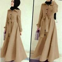 Jual Baju muslim Long Coat abu dhabi 4 warna Murah