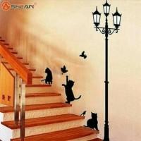 wallpaper lampu kucing / dekorasi rumah / wall sticker paper / hiasan