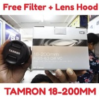 LENSA TAMRON 18-200MM FOR CANON/NIKON (FREE LENS HOOD + FILTER UV)