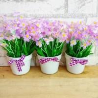 bunga plastik artificial palsu dekorasi rumah shabby chic