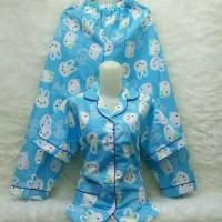 Harga ca baju tidur pororoh biru piyama wanita | antitipu.com