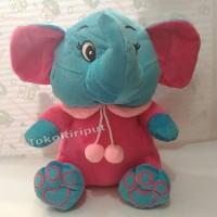 Jual boneka gajah duduk biru import Murah