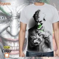 Jual Kaos Tshirt Superhero Joker White E138 Murah
