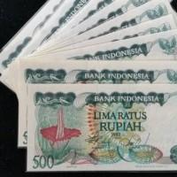 uang kuno Rp 500 rupiah bunga bangkai 1982 duit jadul bingkai frame