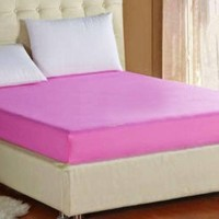 Sprei Waterproof (Anti Air/Ompol) Polos Pink Muda 100x200x20
