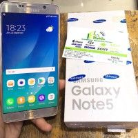 Samsung Note 5 Duos 32Gb Gold - Second / Bekas
