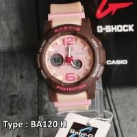Jual TERBARU !!Jam Tangan Casio Baby G Cream Pink Dual Time Wanita & Anak Murah