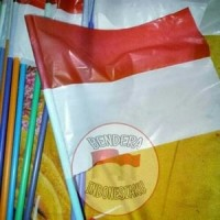 Jual bendera indonesia merah putih plastik semar tangkai Murah
