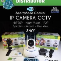 IP Camera CCTV Dual Antenna 360 derajat SONY CMOS SENSOR Murah