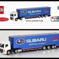 Tomica Long Subaru STI Motorsport TOYS R US Transporter
