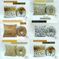 Jual bantal leher 2 in 1 motif leopard sapi jerapah zebra lv cheetah tiger Murah