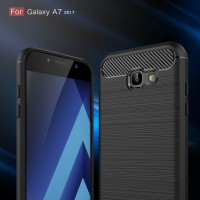 Second - Samsung Galaxy A7 2017 Softcase Carbon Pattern TPU Rubber