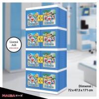 harga Lemari Plastik Naiba Doraemon Susun 4 Premium  Tokopedia.com