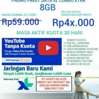 PAKET INTERNET XL XTRA COMBO 8GB + UNLIMITED YOUTUBE