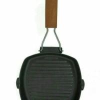 Jual Square Grill Pan 20 Cm Teflon Wajan BBQ Bakaran Sate Serbaguna Murah