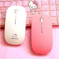 Jual Mouse Wireless Super Slim Hello Kitty Character 2.4Ghz (PC,Laptop,Mac) Murah
