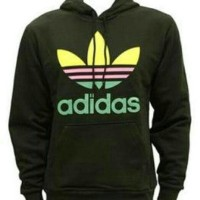Hoodie Zipper Jumper Adidas Rasta