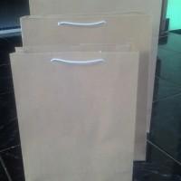 Paper Bag Shopping Bag Tas Kertas Polos Ukuran 22 x 6 x 27