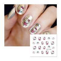 061 Hello Kitty 2 Water Transfer Nail Sticker Stiker Kuku Water Decal