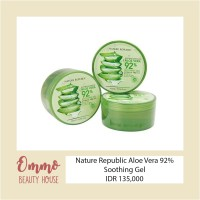 Jual 100% ORIGINAL Nature Republic Aloe Vera 92% Soothing Gel Murah