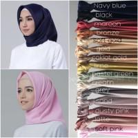 Jual Hijab Jilbab kerudung Segiempat Satin Velvet Premium 15 Warna Murah