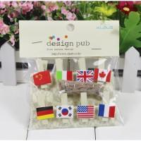 klip kertas / foto motif bendera Flag series clip phot Diskon