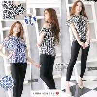 Baju Atasan Wanita - Blouse Batik Modern - Model Sabrina