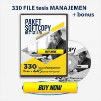DVD 330 Tesis Manajemen Undip BEST SELLER + BONUS