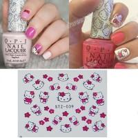 039 Hello Kitty 1 Water Transfer Nail Sticker | Stiker Kuku