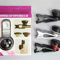 Jual Paling Murah Universal Clip Super Wide 0.4X lensa pembesar foto di hp Murah