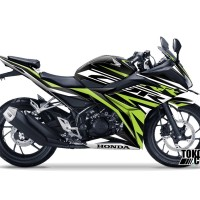 Decal Modifikasi Honda CBR 150 R Hitam K45G - Custom Concept Green