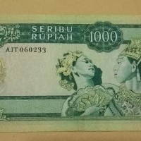 Jual Uang 1000 Rupiah Sukarno Tahun 1960.xf Murah