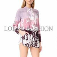 Jumpsuit Gradient Pink Purple Size(S,M,L) Bahan Soft Comfy-Murah 43425