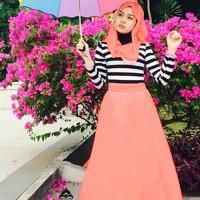 Harga set debora dr baju muslim wanita peach salem | antitipu.com