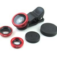 Jual Fish Eye Universal Clip Lens 3in1 Murah