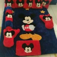 Jual karpet karakter bulu motif mickymouse fullset Murah