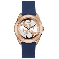 Jam Tangan Wanita Guess W0911L6 G Twist Blue Silicone Watch