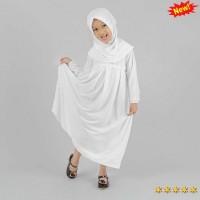 Jual Baju Muslim Gamis Anak Perempuan Warna Putih Lucu Simple