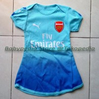 Jual Dress Bola Bayi Baju Bayi Perempuan Arsenal - Away Murah