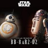 Star Wars 1/12 Force Awakens BB-8 & R2-D2 Bandai Modelkit