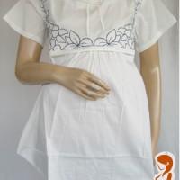 Baju Hamil dan Menyusui Amandan Putih Pendek AP334