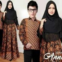 Baju Busana Muslim Couple 15612 Couple Batik Syari Annisa