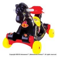 SHP KH582 Rockung Horse Kuda Jungkat Jungkit Mobil Mainan Anak Black